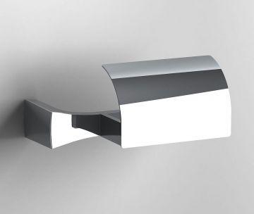 Design toiletrolhouder S7 chroom met vaste klep
