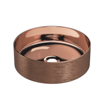 Keramische ronde opbouw waskom Cylindrico ø36cm koper kleurig