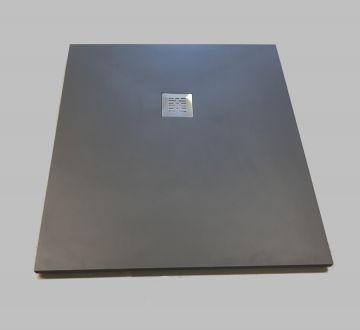 Composiet douchebak Solid Eco 90x90cm antraciet structuur egaal