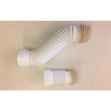 Uittrekbare flexibele WC afvoer 30-57cm wit