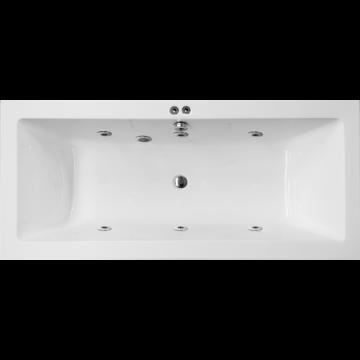 Inbouw whirlpool met 6 waterjets Cubo Comfort 180x90cm