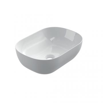 Keramische ovale opbouw waskom Oval mini 46x33cm wit