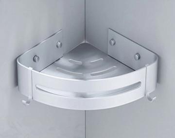 Corner Shelf / Hoek planchet zeephouder Rondo aluminium