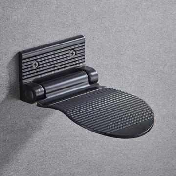 Voetsteun voor douche zwart