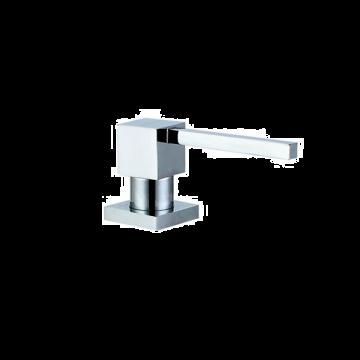 Inbouw zeepdispenser Quadro chroom voor bladmontage