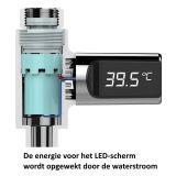 Wassertemperaturanzeige des Duschhahns mit LED-Anzeige